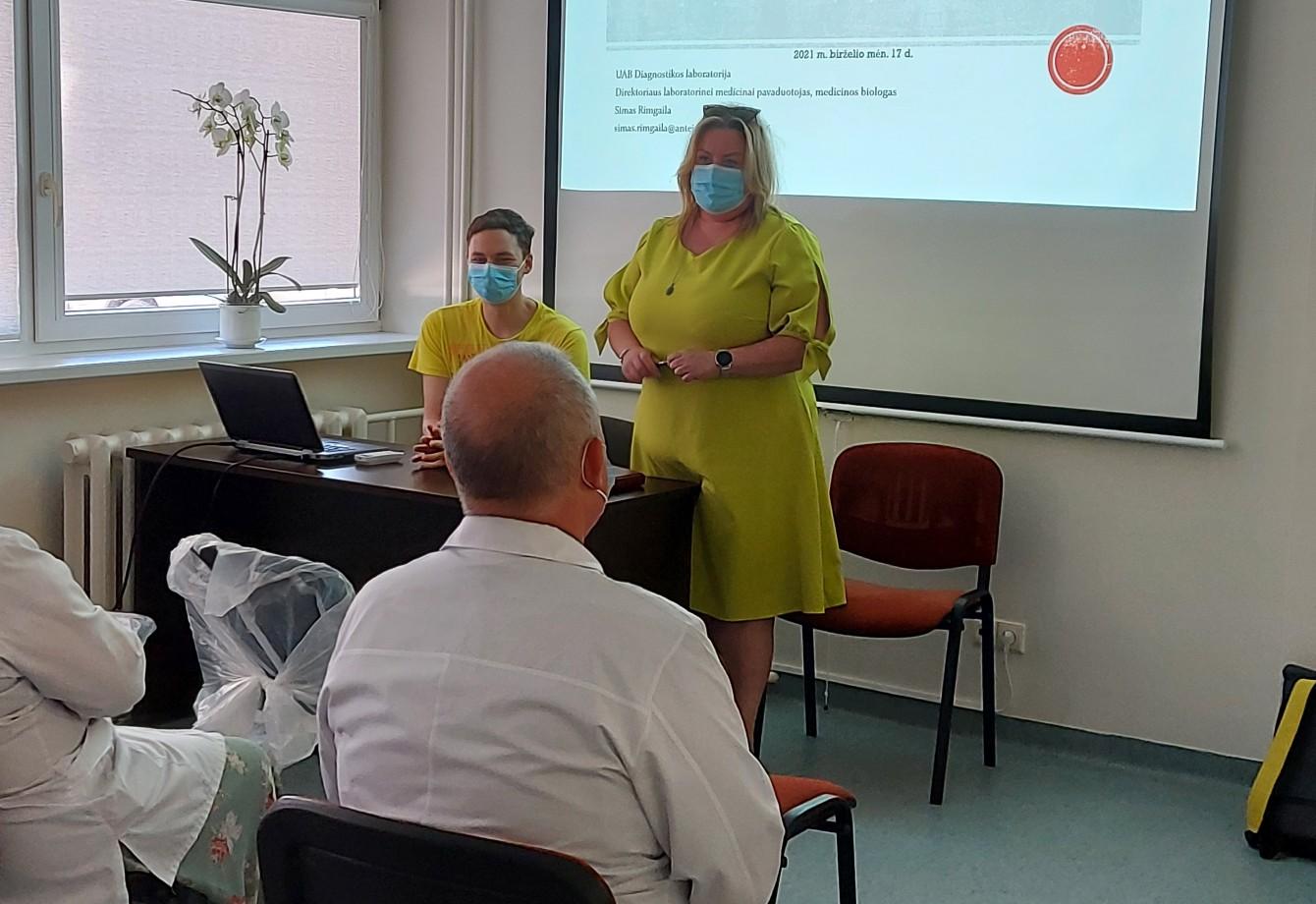 Susitikimas su UAB Diagnostikos laboratorijos atstovais