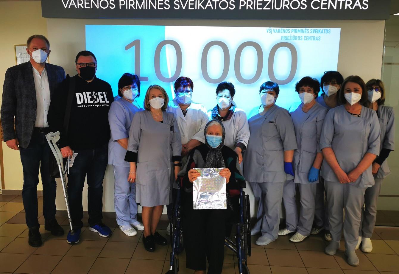 2021 m. gegužės 21 d. VšĮ Varėnos pirminės sveikatos priežiūros centre buvo suleista dešimt tūkstantoji dozė vakcinos nuo COVID-19 ligos
